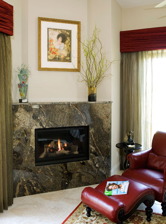 Bed room fireplace