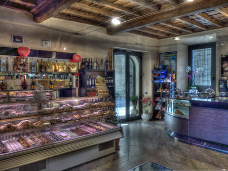 An espresso bar in Formello, Italy