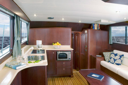Huckins Yacht, an interior.