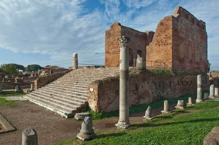 Temple at Ostia Antica, Italy